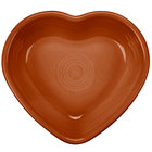 Homer Laughlin 747334 Fiesta Paprika 9 oz. Heart Bowl - 4/Case