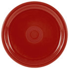 Homer Laughlin 749326 Fiesta Scarlet 9 inch Round Healthcare Plate - 12 / Case