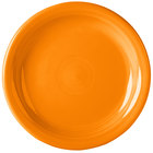 Homer Laughlin 1461325 Fiesta Tangerine 6 3/4 inch Round Appetizer Plate - 12 / Case