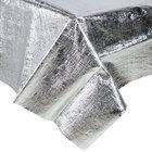 Creative Converting 38320 54 inch x 108 inch Silver Metallic Plastic Table Cover - 12/Case