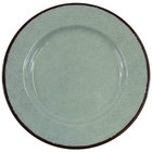 Elite Global Solutions D850M Mojave Vintage California 8 1/2 inch Hemlock Round Crackle Melamine Plate