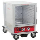 Avantco HPU-1812 Undercounter Half Size Non-Insulated Heated Holding / Proofing Cabinet with Clear Door - 120V