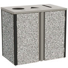 Lakeside 3415 Stainless Steel Refuse / Recycle / Paper Station with Top Access and Gray Sand Laminate Finish - 37 1/2 inch x 23 1/4 inch x 34 1/2 inch