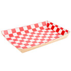 Checkered Kraft Lunch Tray - 10 1/2 inch x 7 1/2 inch x 1 1/2 inch 250 / Case