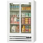 Beverage-Air LV15-1-W-HD White LumaVue 2 Hinged Glass Door Refrigerated Merchandiser - 15 Cu. Ft.