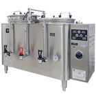 Grindmaster 7443E Twin Midline 3 Gallon Fresh Water Coffee Urn - 120/208/240V 1 Phase