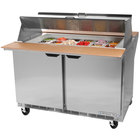 Beverage Air SPE48-18M-DS 48 inch Mega Top Dual Sided Refrigerated Salad / Sandwich Prep Table