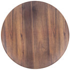 Carlisle EAG1069 Epicure Acacia 19 1/4 inch Woodgrain Round Platter   - 2/Case
