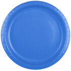 Creative Converting 50145B 10 inch True Blue Paper Banquet Plate - 24 / Pack