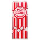 Carnival King 3 1/2 inch x 2 1/4 inch x 8 1/4 inch Popcorn Bag   - 1000/Case