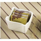 CAC SOH-HSP Soho American White Stoneware Sugar Packet Holder - 36 / Case