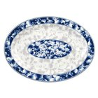 Thunder Group 2014DL Blue Dragon 14 inch x 10 inch Oval Melamine Platter - 12/Pack