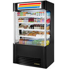 True TAC-48SM-LD Black Vertical Air Curtain Merchandiser Refrigerator with LED Lighting