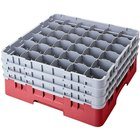 Cambro 36S434416 Cranberry Camrack 36 Compartment 5 1/4 inch Glass Rack