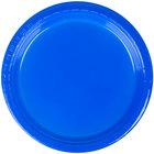 Creative Converting 28314711 7 inch Cobalt Blue Plastic Plate - 240/Case