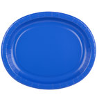 Creative Converting 433147 12 inch x 10 inch Cobalt Blue Oval Paper Platter - 96/Case