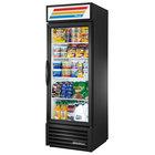 True GDM-23-HC~TSL01 Black Glass Door Refrigerated Merchandiser with LED Lighting