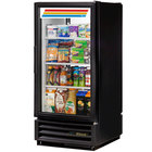 True GDM-10PT-HC-LD Black Glass Door Pass-Through Refrigerated Merchandiser with LED Lighting - 10 cu. ft.