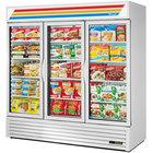 True GDM-72F-HC~TSL01 White Glass Door Merchandiser Freezer with LED Lighting