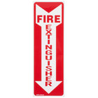 Buckeye 12 inch x 4 inch Red and White Fire Extinguisher Adhesive Label