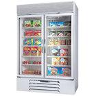 Beverage-Air MMR44-1-W-LED MarketMax 47 inch White Two Section Glass Door Merchandiser Refrigerator - 45 cu. ft.
