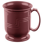 Cambro MDSM8487 Cranberry Insulated 8 oz. Mug - Shoreline Meal Delivery System 12 / Pack