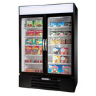 Beverage-Air MMF49-1-B-EL-LED MarketMax 52 inch Black Two Section Glass Door Merchandiser Freezer with Electronic Lock - 49 cu. ft.