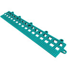 Cactus Mat 2554-TLB Dri-Dek 2 inch x 12 inch Teal Vinyl Interlocking Beveled Edge Drainage Floor Tile - 9/16 inch Thick