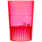 Fineline Quenchers 4110-RD 1 oz. Neon Red Hard Plastic Shooter Glass   - 10/Pack