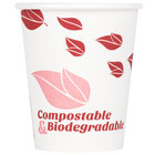 EcoChoice 8 oz. Leaf Print Compostable and Biodegradable Paper Hot Cup - 1000/Case