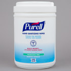 Purell&#174&#x3b; 9031-06 Alcohol Formulation Sanitizing Wipes 175 Count Canister - 6/Case