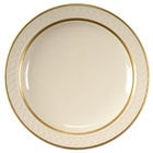 Homer Laughlin 1420-0345 Westminster Gothic 7 1/4 inch Narrow Rim Plate - Off White 36 / Case