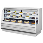Turbo Air TCGB-72-DR White 72 1/2 inch Curved Glass Dry Bakery Display Case - 22.7 Cu. Ft.