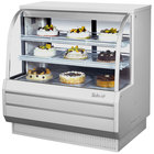 Turbo Air TCGB-48-DR White 48 1/2 inch Curved Glass Dry Bakery Display Case - 14.8 Cu. Ft.
