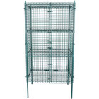Regency NSF Stationary Green Wire Security Cage Kit - 24