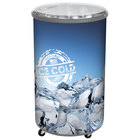 Gray Merch I 100 Mobile 70 Qt. Barrel-Style Merchandiser with Heavy Duty Casters