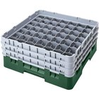"Cambro 49S800119 Sherwood Green Camrack 49 Compartment 8 1/2"" Glass Rack"