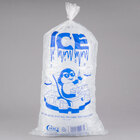 Choice 20 lb. Clear Plastic Ice Bag with Ice Print - 500/Case