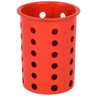 Steril-Sil RP-25-RED Red Plastic Straight Sided Flexible Silverware Cylinder