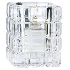 Sterno Products 80150 3 3/4 inch Clear Krystle Square Liquid Candle Holder