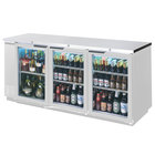 Beverage Air BB72GY-1-S 72 inch Stainless Steel Back Bar Refrigerator with 3 Glass Doors - 115V