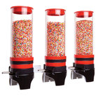 Cal-Mil 3525-3-14 Red 3 Cylinder Topping Click Dispenser - 15 3/4