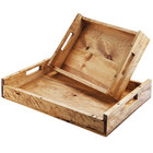 Cal-Mil 3454-1014-99 Madera 17 1/4 inch x 12 1/2 inch x 5 1/4 inch Reclaimed Wood Serving Tray with Handles