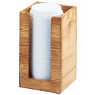 Cal-Mil 298-99 Madera 4 1/2 inch x 4 1/2 inch x 8 1/2 inch Reclaimed Wood Cup / Lid Holder