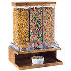 Cal-Mil 3434-99 Madera Reclaimed Wood 3 Bin Cereal Dispenser - 18