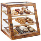 Cal-Mil 3432-S-99 Madera Reclaimed Wood 3 Tier Slanted Self Serve Bakery Case - 21