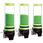 Cal-Mil 3525-3-40 Green 3 Cylinder Topping Click Dispenser - 15 3/4