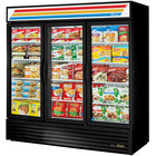 True Refrigeration 3 Section Glass Door Merchandising Freezers