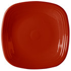 Homer Laughlin 919326 Fiesta Scarlet 10 3/4 inch Square Dinner Plate - 12 / Case