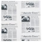 American Metalcraft PPRN1100 10 inch x 10 inch White Newspaper Print Deli Sandwich Wrap Paper - 1000/Case